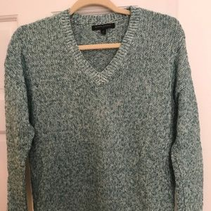 Feather Green V-Neck Sweater
